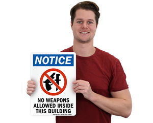 No Weapon Signs