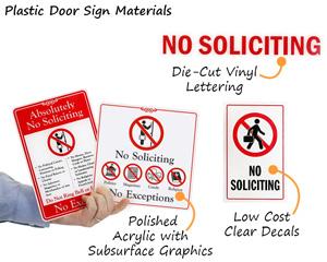 Popular No Soliciting Door Signs