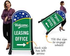 Portable leasing office signs