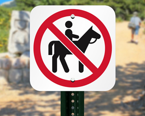 Prohibition Symbol Sign