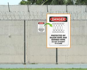 Razor Wire Sign