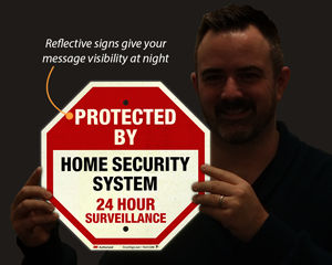 Reflective home security sign