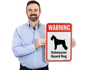 schnauzer dog breed warning signs