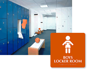 School Locker Room Signs