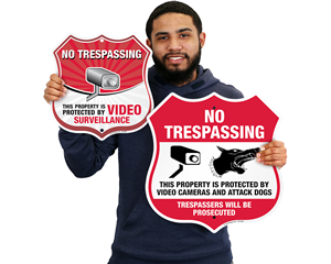 No Trespassing Shield Signs