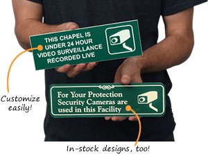 Surveillance Signs For Doors