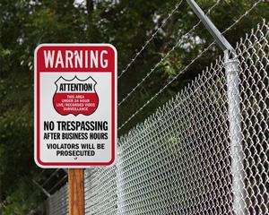 Surveillance Warning Sign