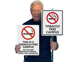 Tobacco campus signs
