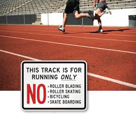 School Track Signs