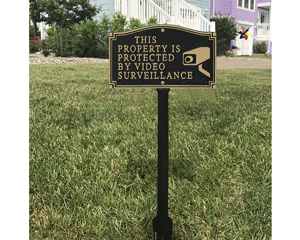 GardenBoss™ Video Surveillance Plaque