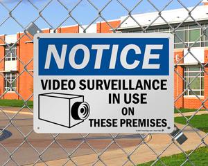 Video Recording Warning Sign