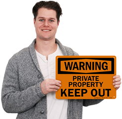 Warning Private Property Signs