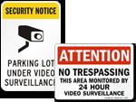 Area Under Surveillance Signs