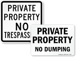 Big Private Property Signs