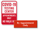 Looking for By Appointment Only Signs?