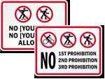 CustomNo Skateboard Signs