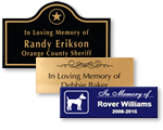 Engraved Memorial Plaques