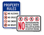 In-Stock Rules Signs