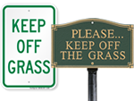 Looking for Keep Off Grass Signs?