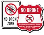 No Drone Signs