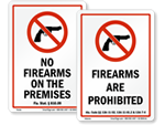 No Firearms Signs by State