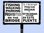 No Fishing Signs
