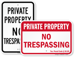 No Trespassing Signs By State