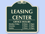 Personalize Your Leasing Office Sign