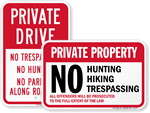Looking for No Hunting Signs?
