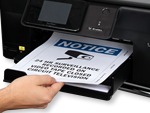 Print your free, custom sign