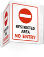 Restricted Area Projecting Door Sign
