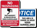 Video Surveillance Signs