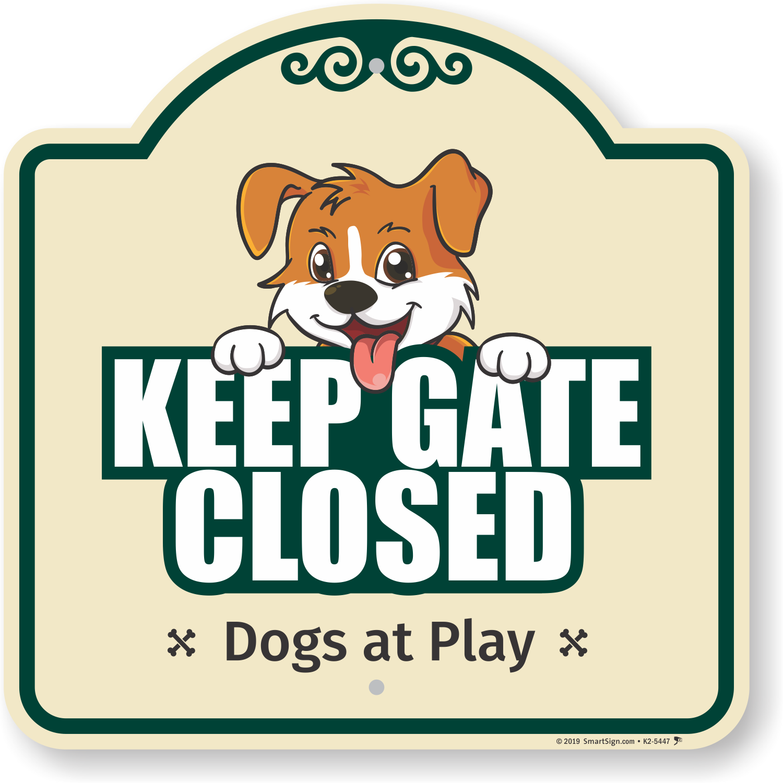 Gate Signs For Dogs Goldenacresdogs