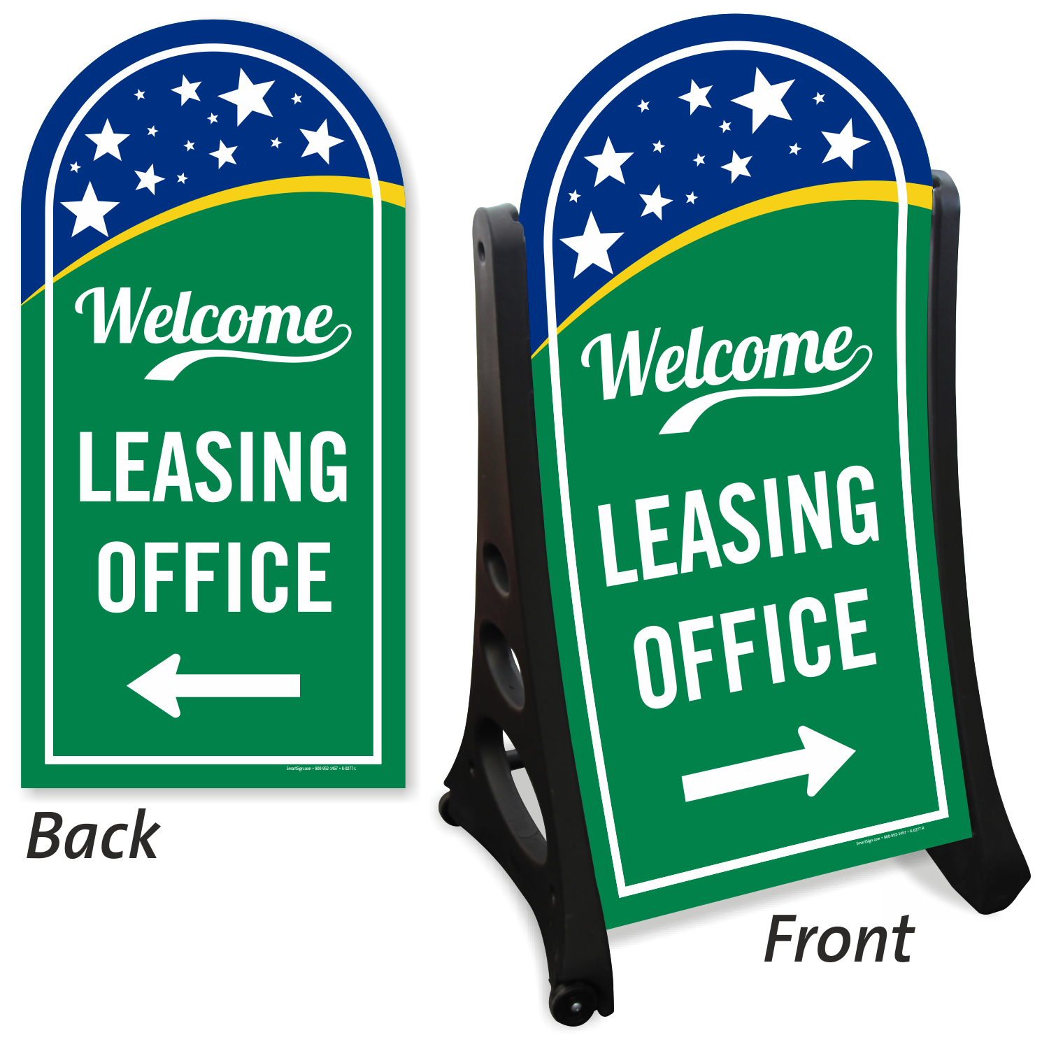 Leasing Office Welcome Sign With Left Right Arrow Sku K Roll 1051 Lr