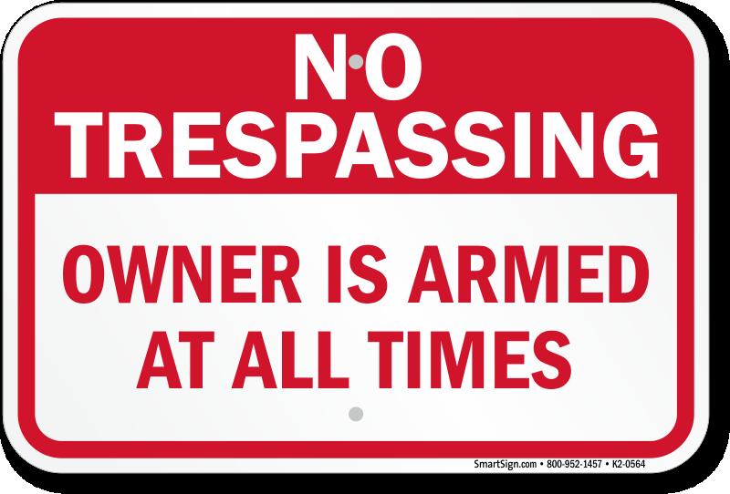 Beware Of Owner Gun Signs Goldenacresdogs