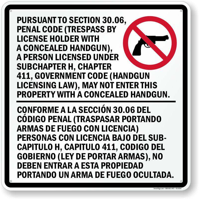 picture relating to 30.07 Sign Printable identified as Texas hidden handgun computer software - Print Coupon codes