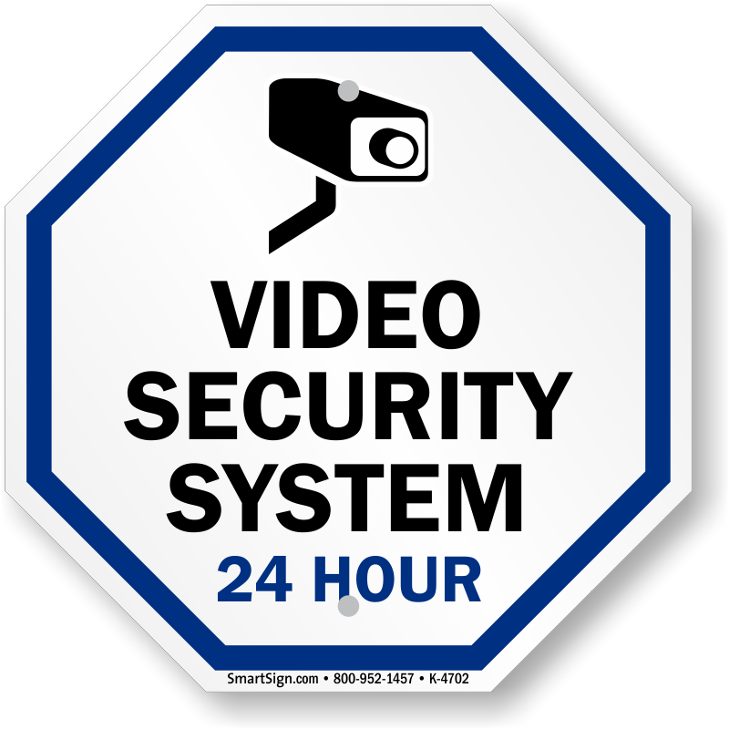 video surveillance sign video security with graphic system