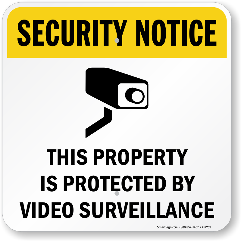 video surveillance signs free shipping options. Black Bedroom Furniture Sets. Home Design Ideas