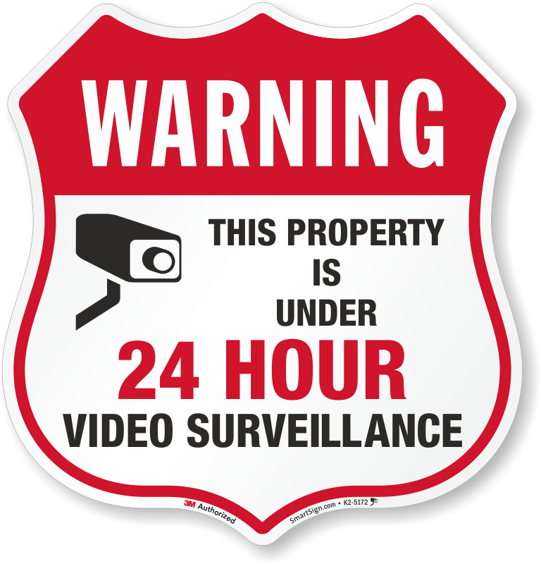this property under video surveillance sign - 768×800