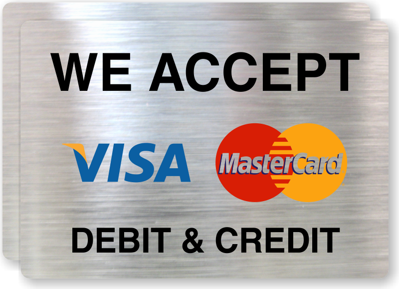 photo regarding We Accept Credit Card Signs Printable identified as Very well-loved We Settle for Credit rating Playing cards Printable Indicator RV55
