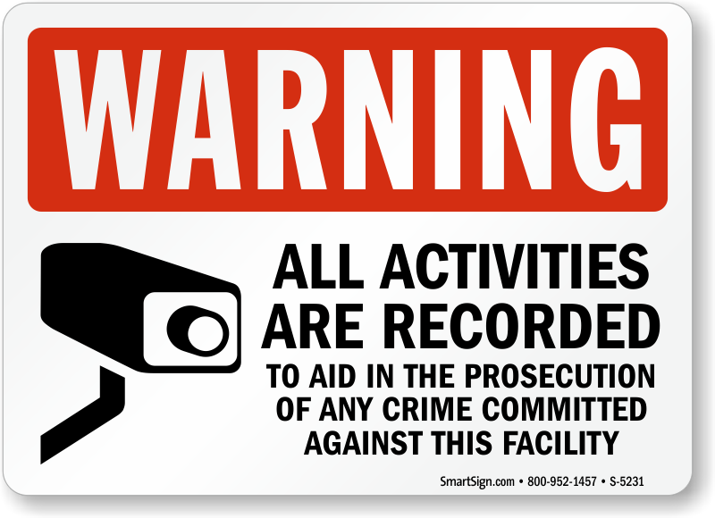 Video surveillance signs free shipping options zoom price buy publicscrutiny Image collections