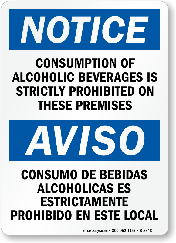 no alcoholic beverages allowed signs no alcohol