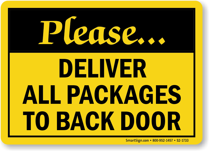 Backdoor deliveries