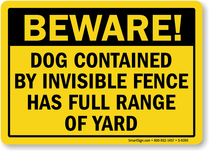 Very Beware of Dog Signs ZF75