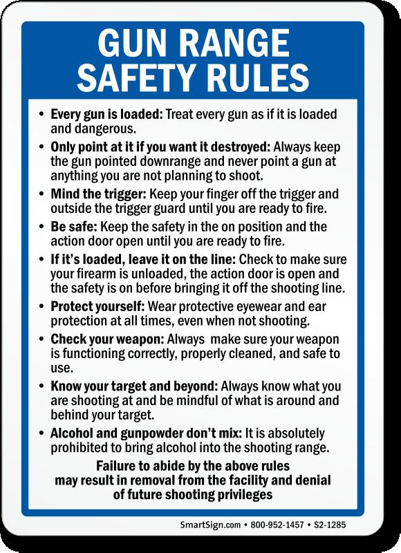Shooting Range and Gun Signs