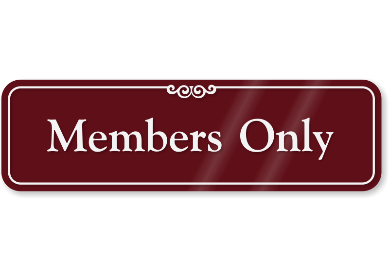 Decorative Members Only Sign for Wall or Door, SKU: SE-2438