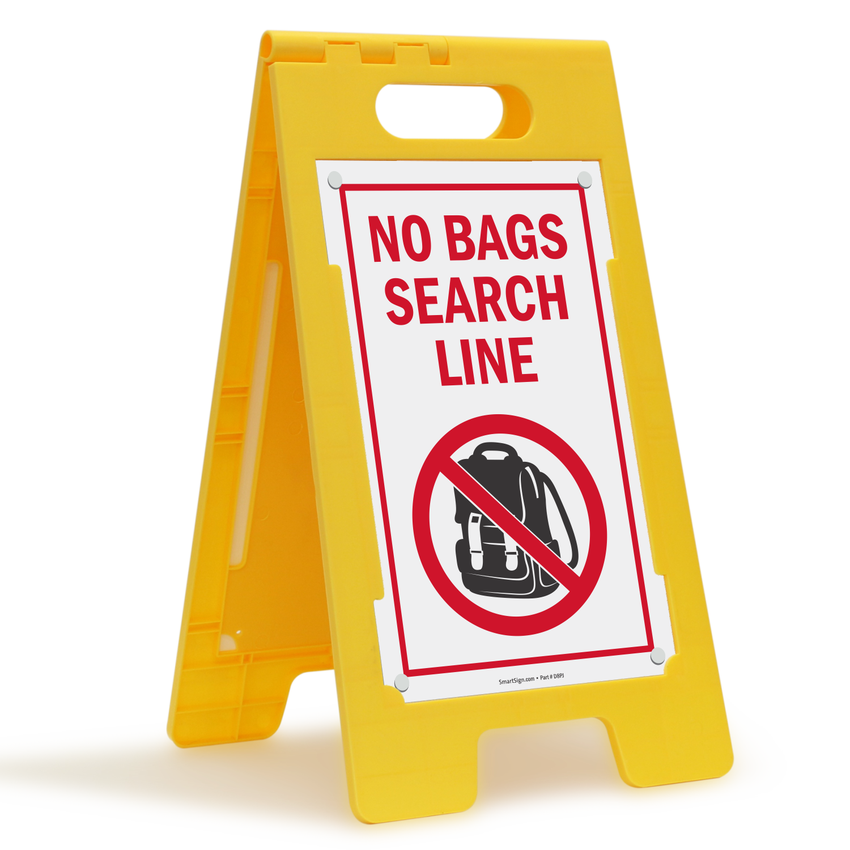 No Bags Search Line Floorboss Sign Sku Sf 0485