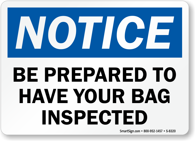 Security Checkpoint Signs for Your Facility - Fast Shipping