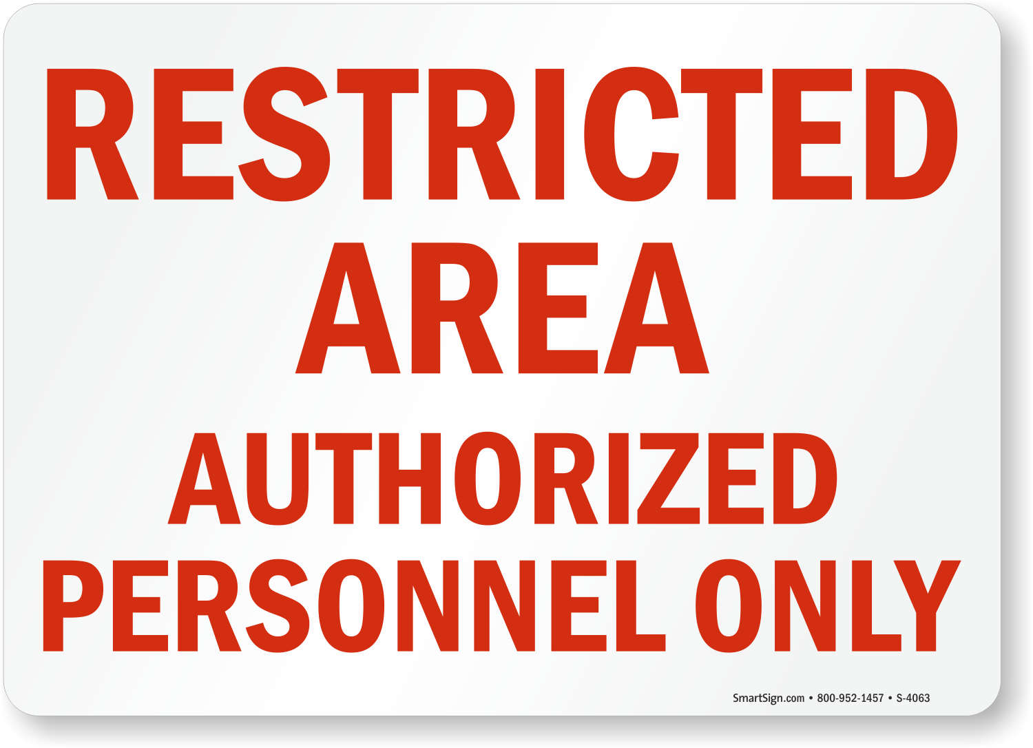 image relating to Authorized Personnel Only Sign Printable named Limited Local Approved Staff Just Indication with Crimson Terms