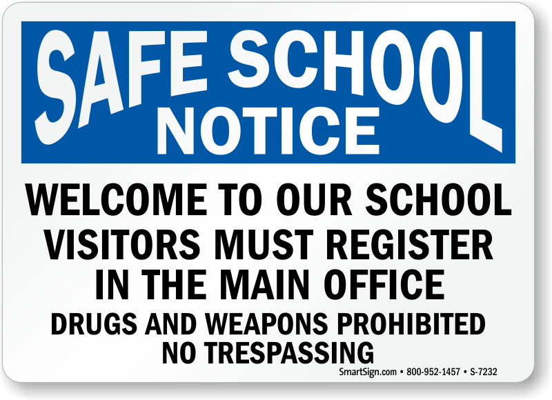 Unique Visitors Must Register Signs IC55